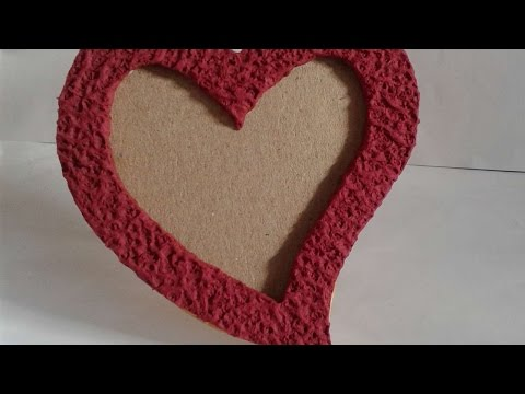 How To Make Lovely Heart Shape Photo Frame - DIY Crafts Tutorial - Guidecentral