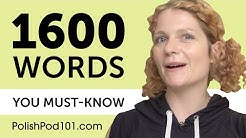 1600 Words Every Polish Beginner Must Know