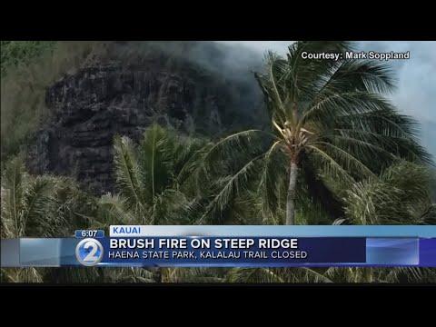Brush fire forces closure of Kauai state park, popular Kalalau hiking trail