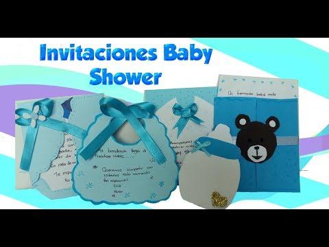 Como Hacer Invitaciones Para Baby Shower Niño Youtube