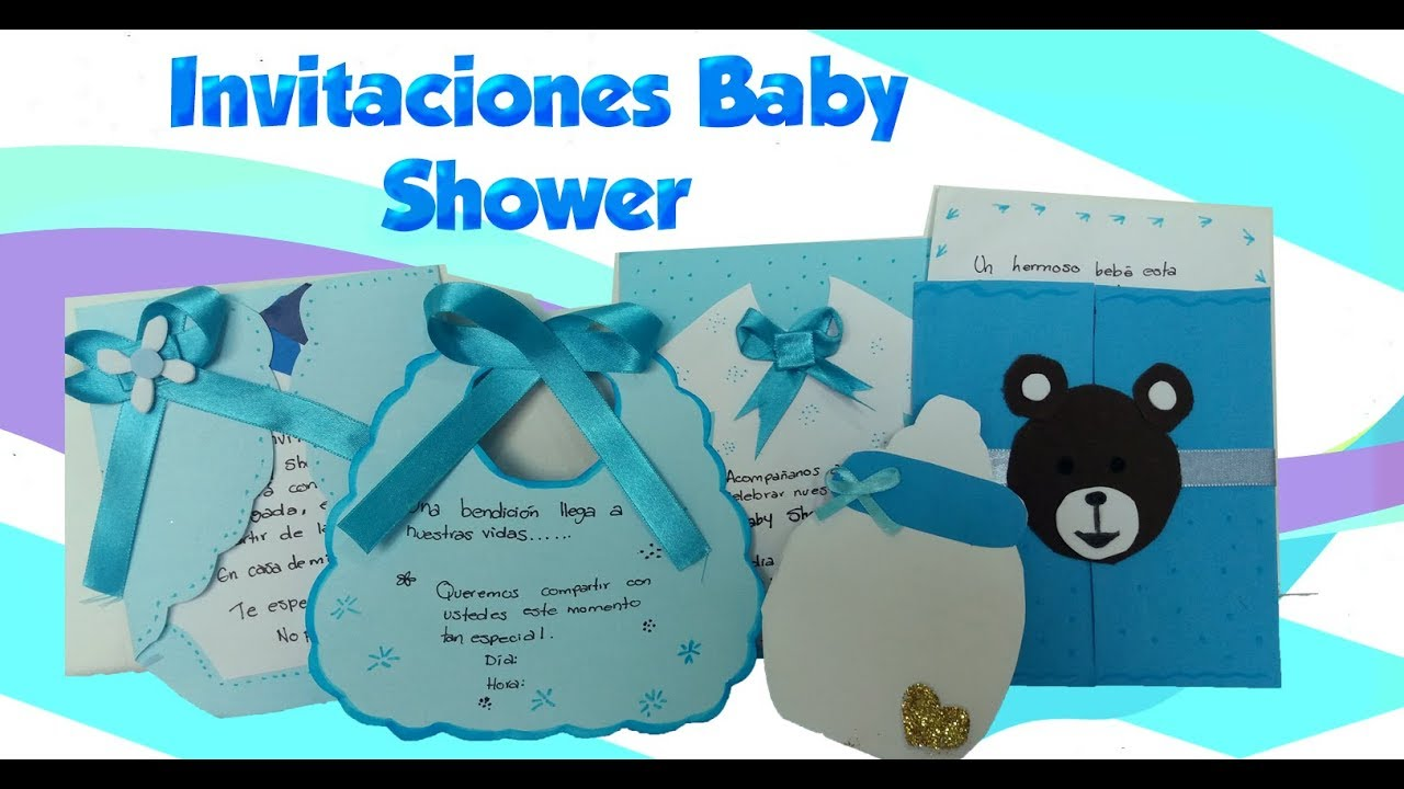 Como Hacer Invitaciones Faciles Para Baby Shower Nino Youtube