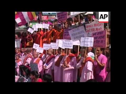 WRAP Protests against Myanmar government in Nepal, India, Israel, UK