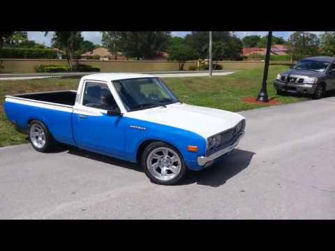 Old school Nissan Datsun pickup truck with KA24DE motor