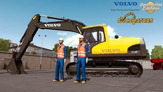 Construction Simulator 2015 - Pelleteuse Volvo EC 144D Fun Mods ! #2