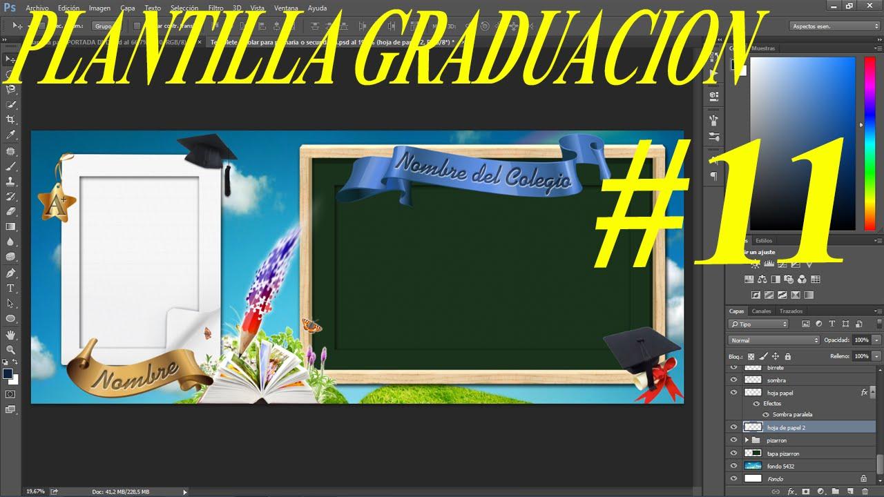 Plantilla psd Graduación ideal para escuelas y colegios con diseño ...