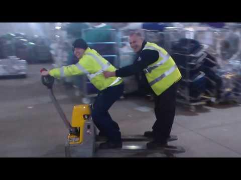 Forklift Fails: Riding a Pallet Jack