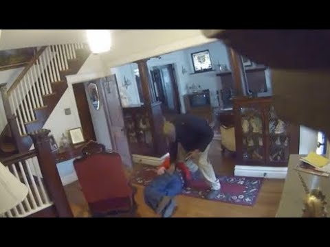 Brutal burglary caught on home security camera