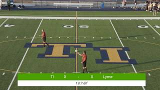 2018 Lyme vs Thousand Islands High School Boys Soccer