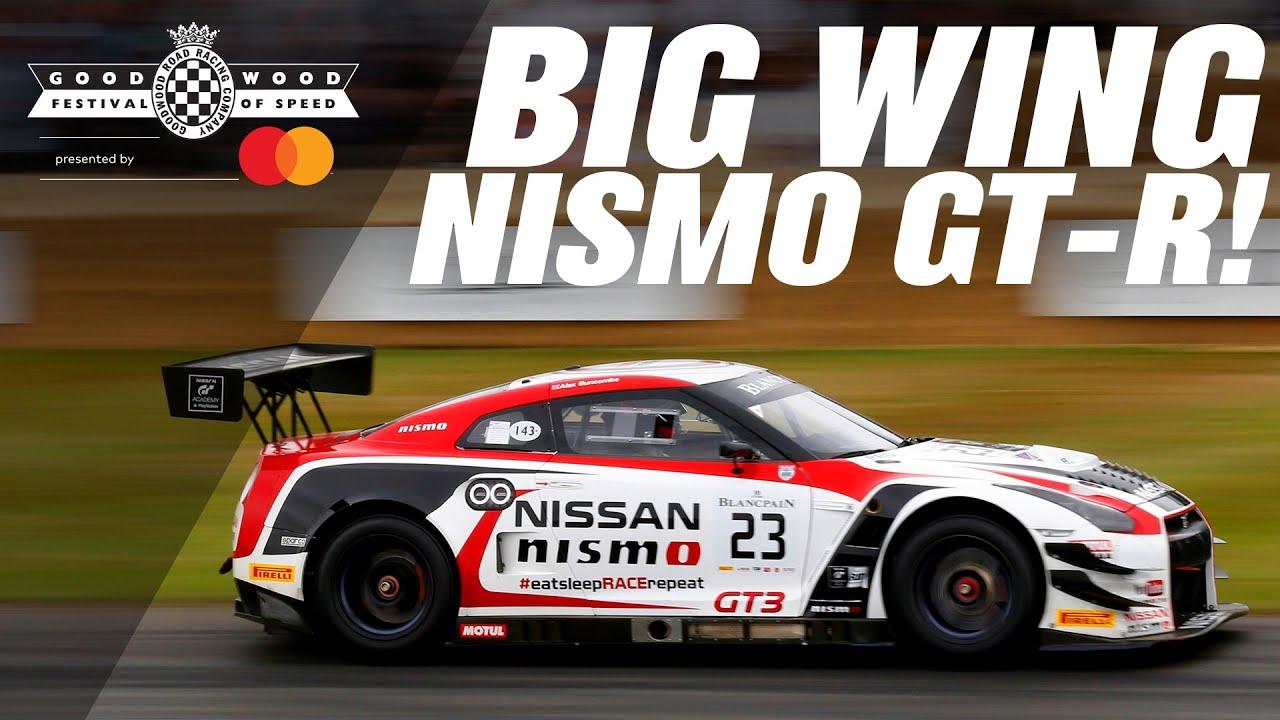 GT3 Nismo GT-R flies up Goodwood Hill in timed shootout