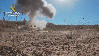 Guardia Civil destruye dos artefactos explosivos antiguos