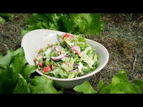 Salat mit Feta-Dressing | leichte Sommerküche