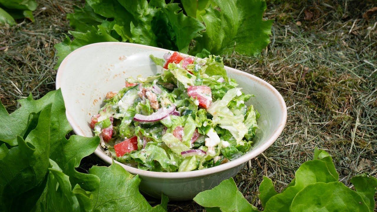 Sommerküche Low Carb : Salat mit feta dressing leichte sommerküche youtube