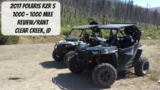 2017 RZR S 1000 - 1000 Mile Review/Rant - Clear Creek, ID