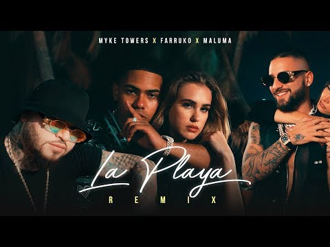 Myke Towers, Maluma & Farruko – La Playa Remix (Video Oficial)