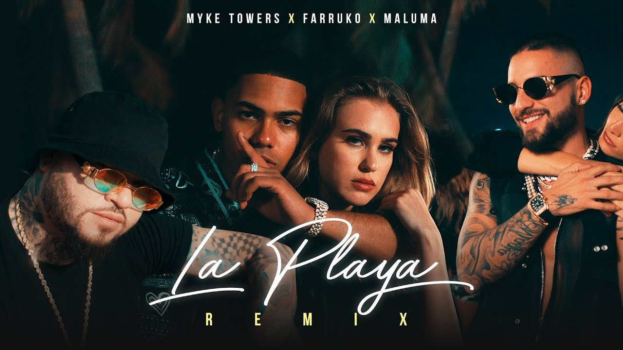 Myke Towers, Maluma & Farruko - La Playa Remix (Video Oficial)