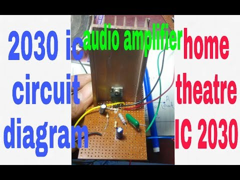 audio amplifier 2030 ic circuit diagramsimple and low cost (100