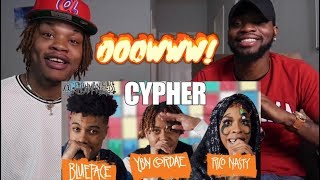 Blueface, YBN Cordae and Rico Nasty's 2019 XXL Freshman Cypher - (REACTION)