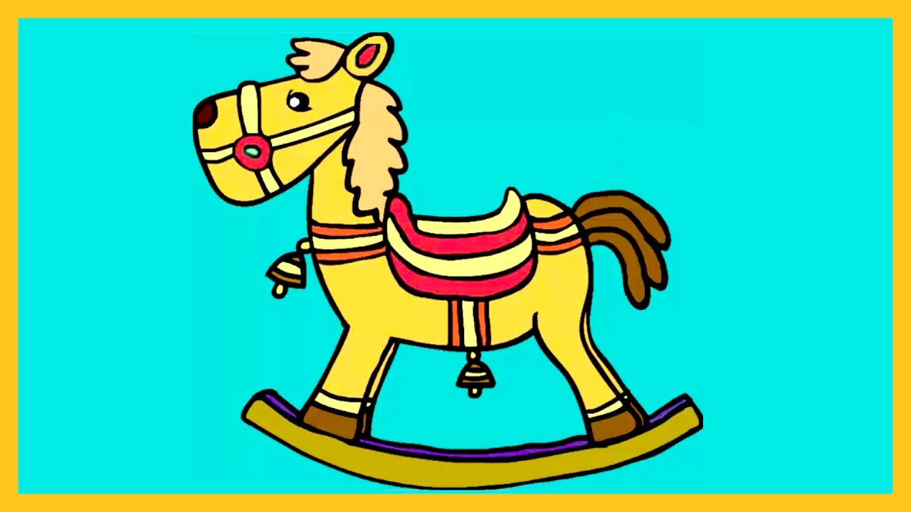 Learn How to Color A Horse , Coloring for Kids, How to Color by ...
