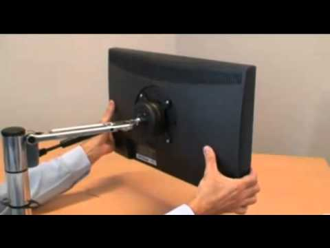 Installing the Spacedec Acrobat LCD Monitor Arm Desk Mount