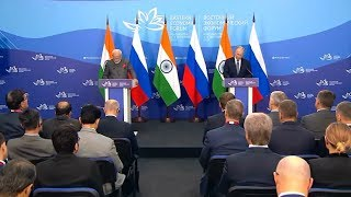 Путин упомянул Рериха на пресс-конференции с премьер-министром Индии Н.Моди во Владивостоке