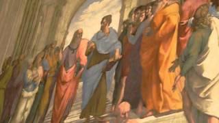 Ватикан. Рафаэль, Афинская школа(Экскурсия в Ватикан в феврале 2008 года. Самые известные фрески Рафаэля. Экскурсовод - самая лучшая в Риме!..., 2011-06-17T18:26:58.000Z)
