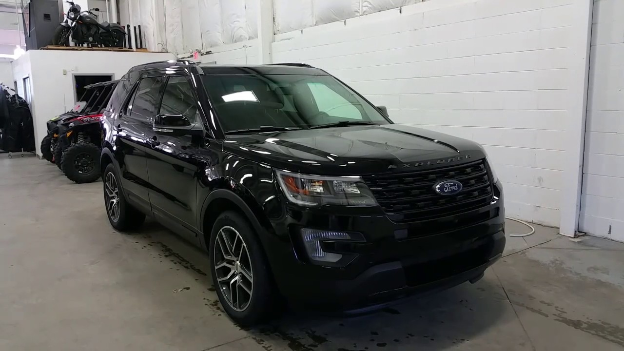 2017 ford explorer sport w ecoboost sunroof 20 wheels review boundary ford youtube. Black Bedroom Furniture Sets. Home Design Ideas