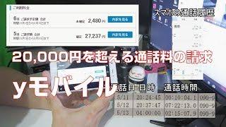 【格安sim】身に覚えのない2万円の通話料請求【yモバイル】