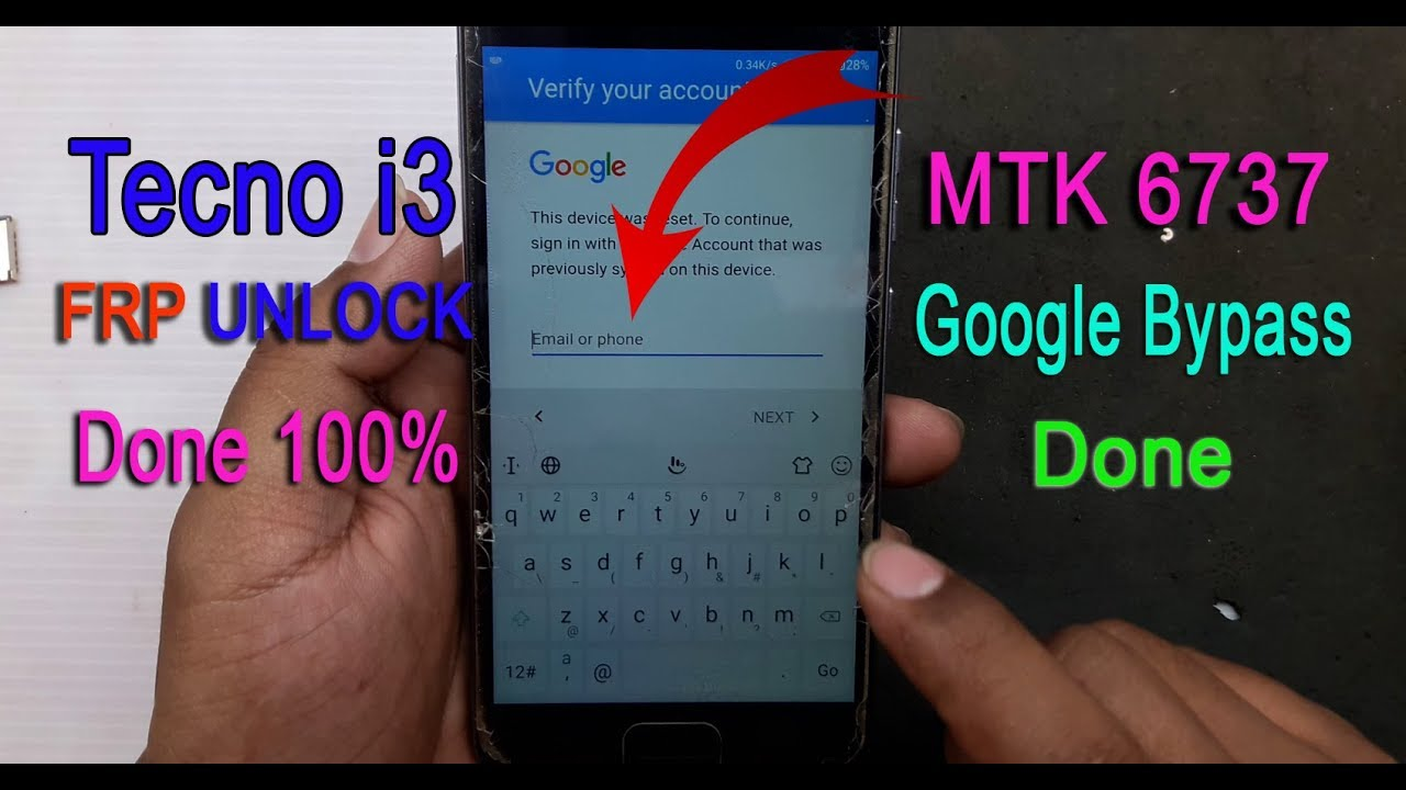TECNO I3 FRP UNLOCK 100% WORKING  Mt6737 CPU by MObile SOLUTION