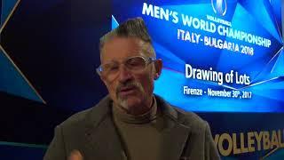 30-11-2017: #fivbmenswch - Andrea Lucchetta commenta i sorteggi mondiali maschili di volley 2018.