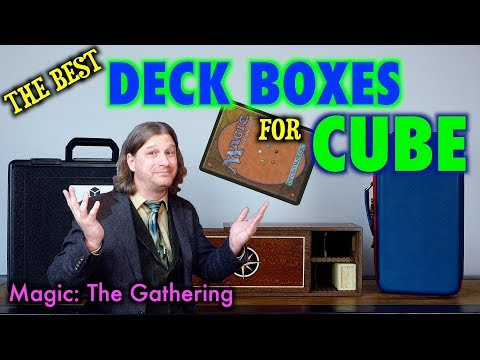 The Best Deck Boxes For Your Magic The Gathering Cube: Spartan Casket, Cube Vault, and Carrying Case