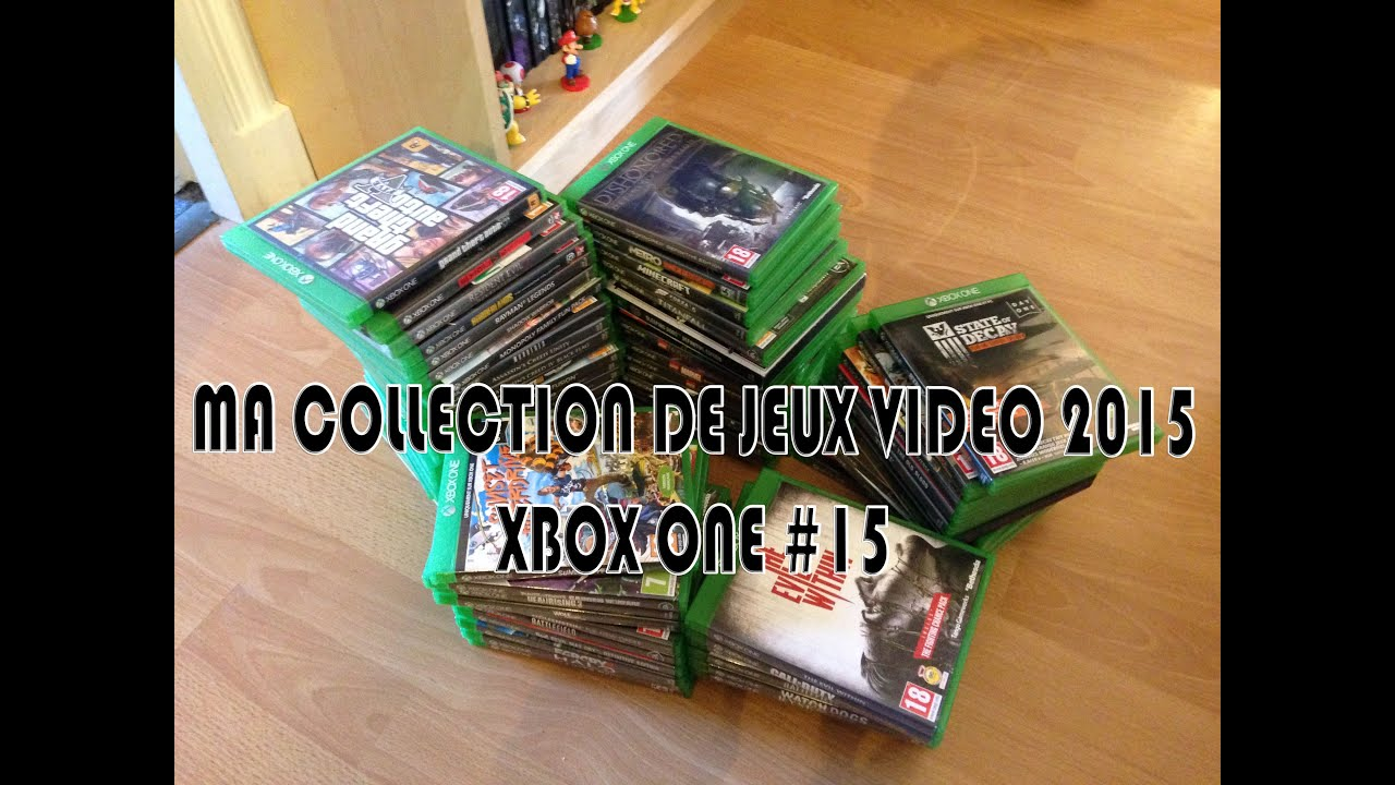 ma collection de jeux vid o 2015 xbox one 15 youtube. Black Bedroom Furniture Sets. Home Design Ideas