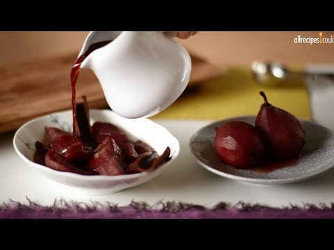 Red Wine Poached Pears Recipe Video