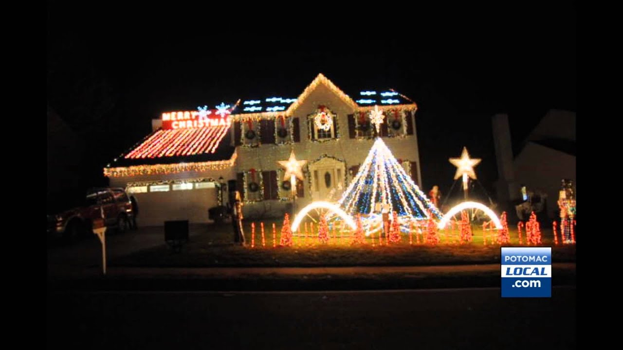 stafford house sets christmas lights to music