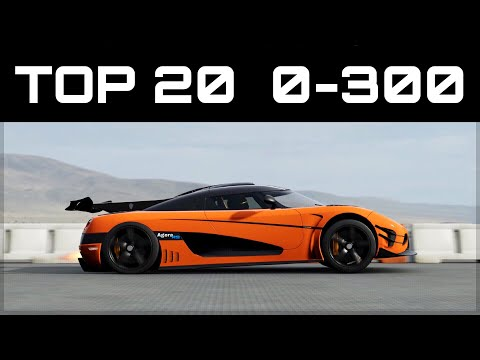 TOP 20 FASTEST 0-300 CARS | Forza...