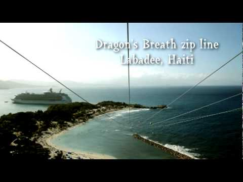 dragons breath zip line in labadee youtube