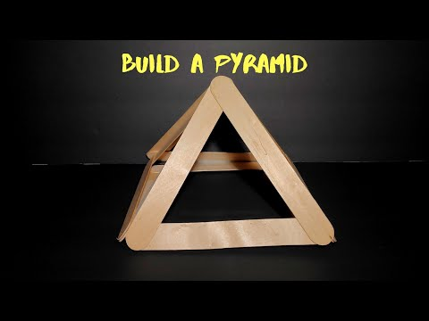 How to Build a Pyramid out of craft sticks