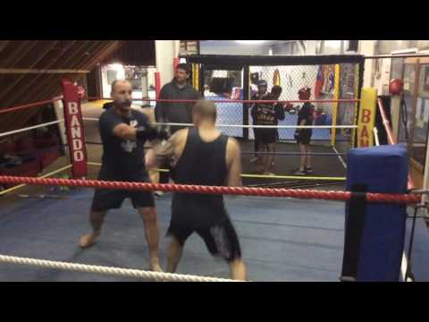 aggressive sparring, beginner vs retired world champ PART 2
