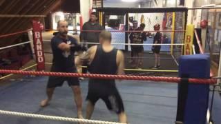 aggressive sparring, beginner vs retired world champ PART 2