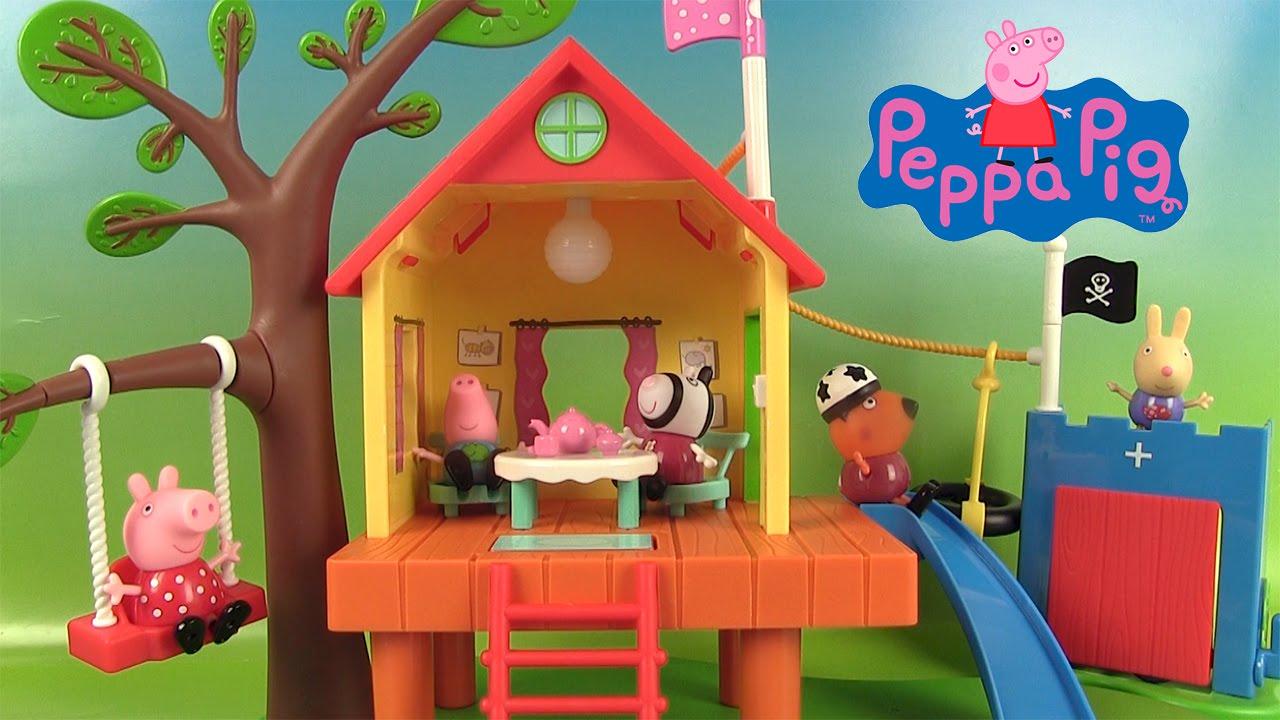 Peppa pig jouets cabane dans l arbre peppa pig s treehouse - Maison de jardin jouet ...