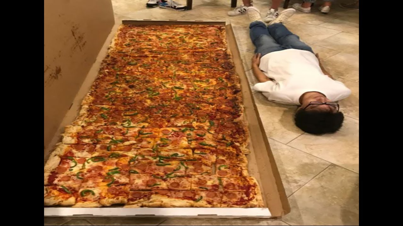 I bet you can't eat this pizza