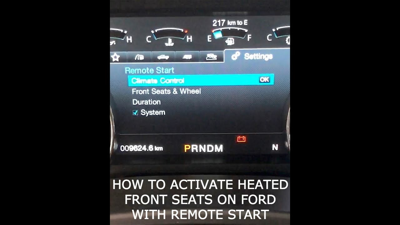 How to use Ford Remote Start to Activate Heated Seats