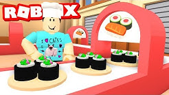 MAKING MY OWN SUSHI FACTORY IN ROBLOX