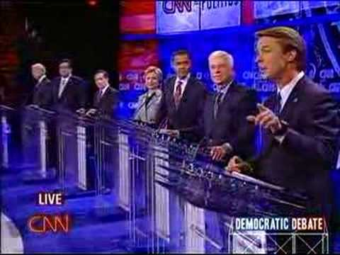 11/15/07 Democratic Debate- Hillary and Obama SPAR