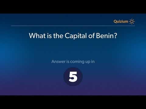 What is the Capital of Benin?   Benin Quiz
