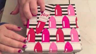 ASMR Unboxing Sephora Play! March 2016 Beauty Subscription ~ Slow Whisper