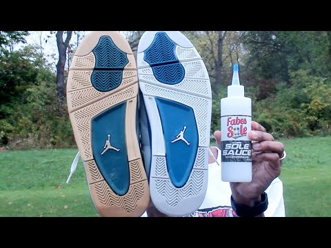 How To Ice 2012 Jordan 4 Military Blue Using Fabes Sole Sauce