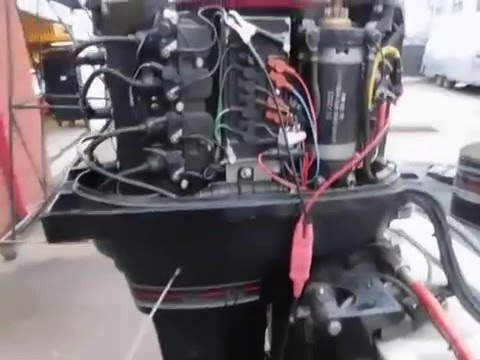 Mercury Outboard Starting and running after stator replacement 2116  YouTube