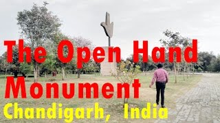 world most significant open hand monument capitol complex chandigarh
