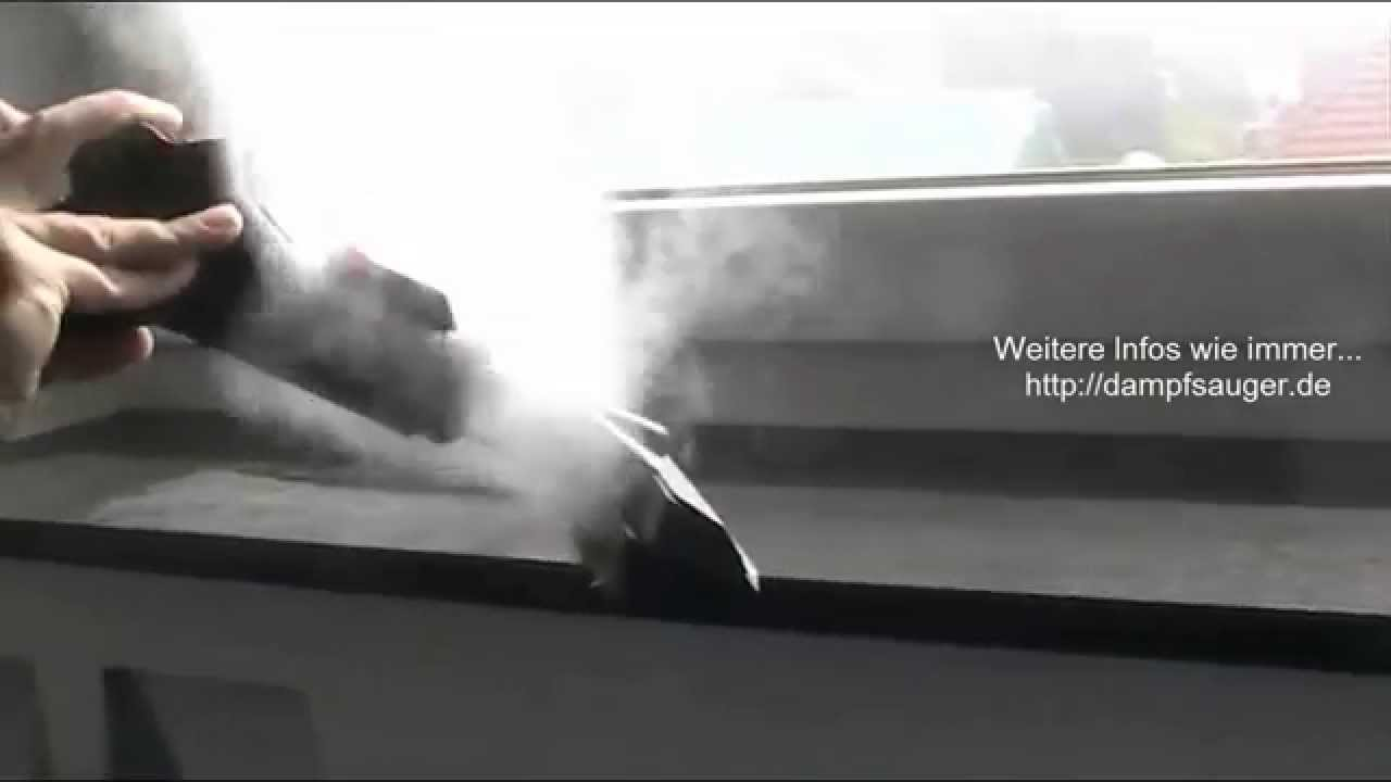 Turbo Fensterbank reinigen mit dem Dampfsauger - YouTube SS66