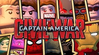 Lego Civil War | Team Captain America (& Doctor Strange ) VS Team Iron Man ( & Spider Man ) | LMA